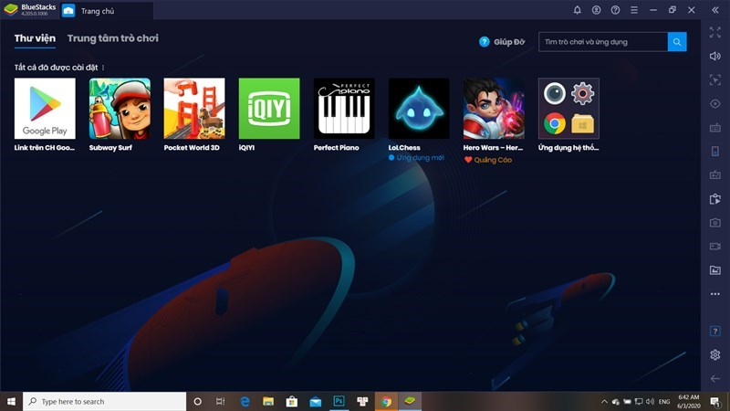 Screenshots Bluestacks - Phần mềm giả lập Android ngay trên máy tính