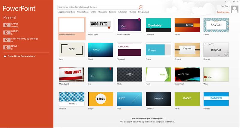 Screenshots Microsoft PowerPoint: Tạo file thuyết trình với nhiều slide đẹp