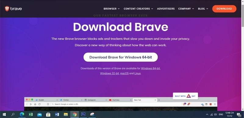 Screenshots Brave browser: Trình duyệt web, tìm kiếm riêng tư nhanh, an toàn