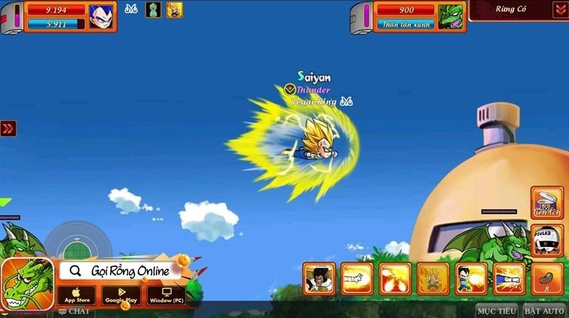 Screenshots Gọi rồng Online - 7 viên ngọc rồng: Game nhập vai MMORPG