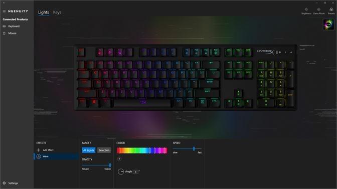 Screenshots HyperX NGENUITY - Phần mềm tùy chỉnh các sản phẩm HyperX