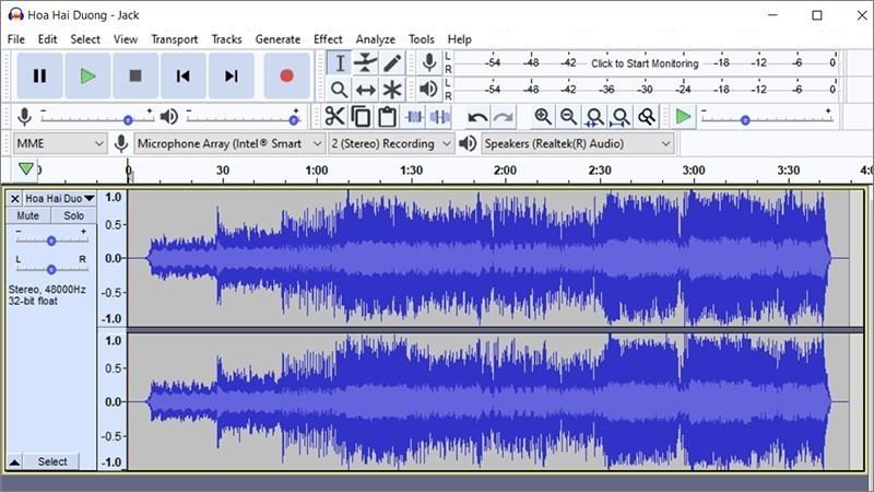 Screenshots Tải Audacity: Phần mềm ghi âm, cắt ghép nhạc, lọc tạp âm miễn phí