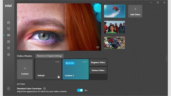 Screenshots Intel Graphics Command Center - Tăng trải nghiệm sử dụng PC