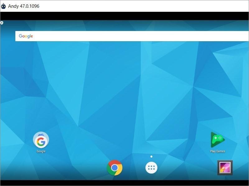 Screenshots Andy - Giả lập Android trên PC