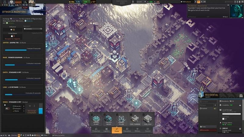 Screenshots Industries of Titan - Game xây thành phố tương lai