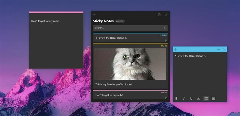 Screenshots Microsoft Sticky Notes - Công cụ ghi chú tiện lợi trên Windows