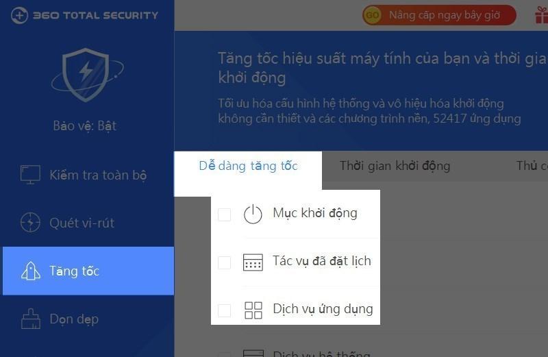 Screenshots 360 Total Security - Hỗ trợ tăng tốc máy tính, chống virus, bảo vệ dữ liệu hiệu quả