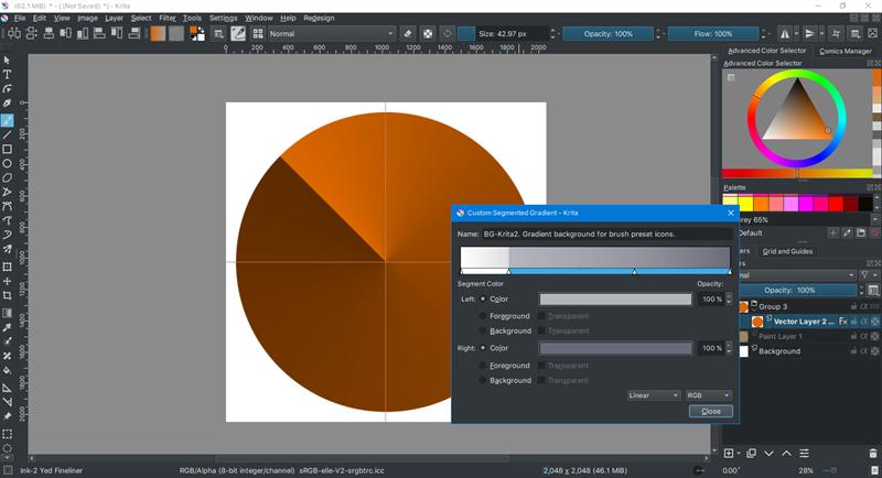 Screenshots Krita - Phần mềm chỉnh sửa ảnh dành cho máy cấu hình thấp