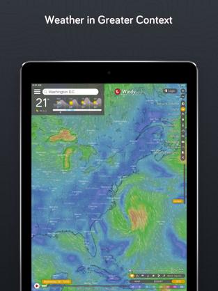 Screenshots Windy.com - Dự báo, radar thời tiết, giám sát cơn bão
