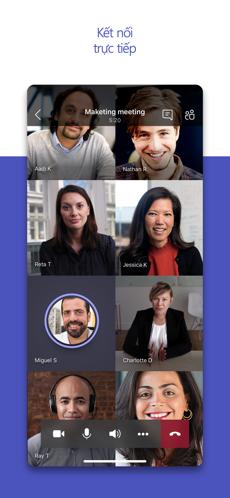 Screenshots Microsoft Teams - Ứng dụng họp trực tuyến, trò chuyện miễn phí