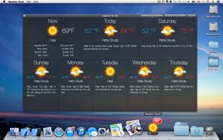 Screenshots Weather Dock - phần mềm dự báo thời tiết trên MacBook miễn phí