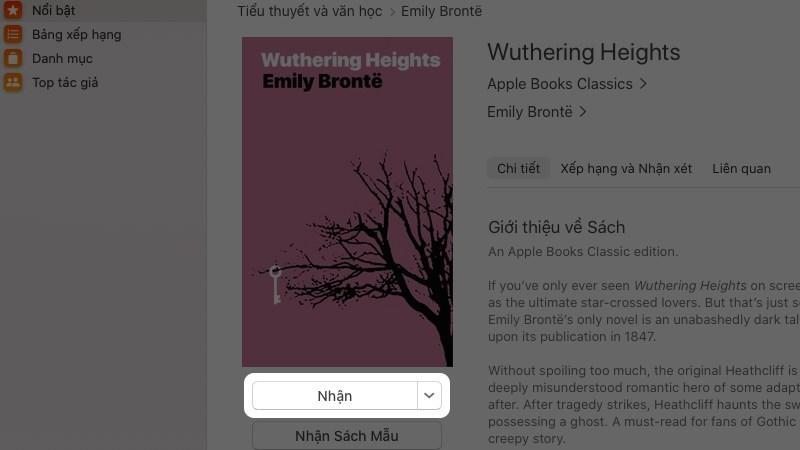 Screenshots AppleBooks - Phần mềm đọc sách trên MacBook