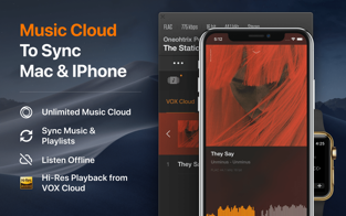 Screenshots Vox music player - Phần mềm nghe nhạc chất lượng cao trên Mac và iPhone