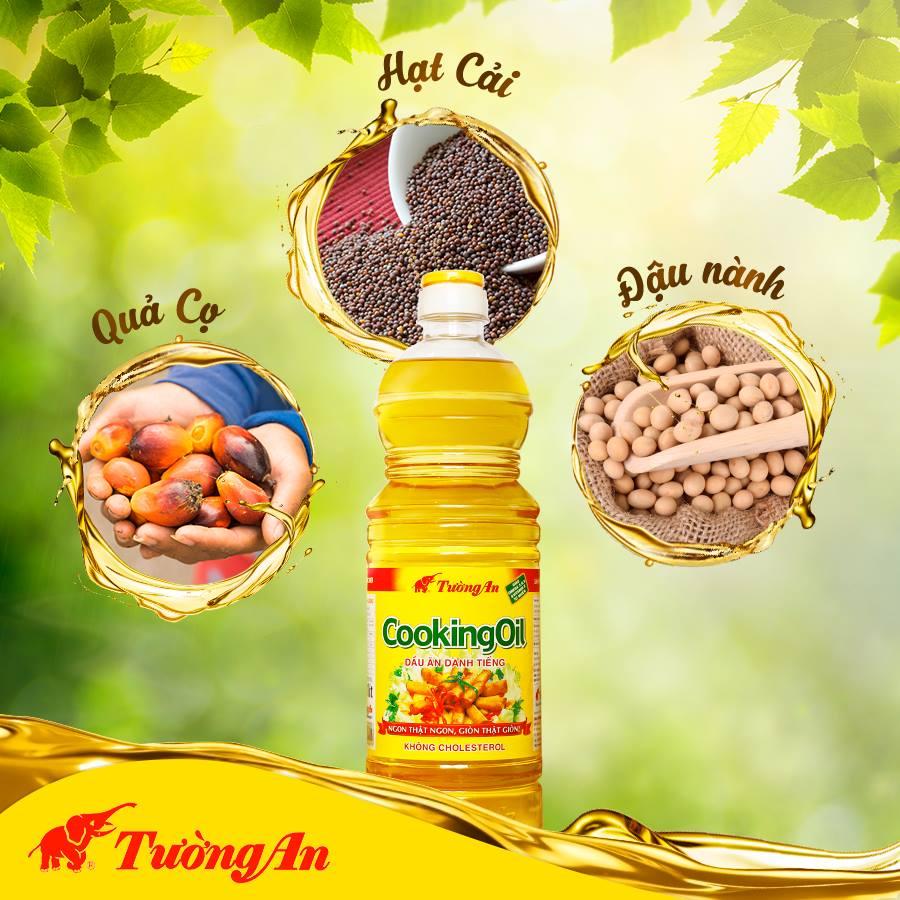 Thành phần dầu thực vật Tường An Cooking oil chai 1 lít