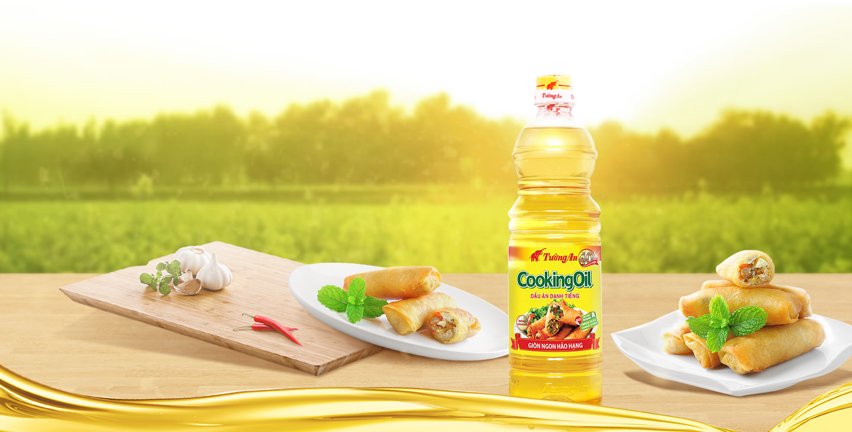 Dòng chiên xào Dầu thực vật Tường An Cooking oil chai 1 lít