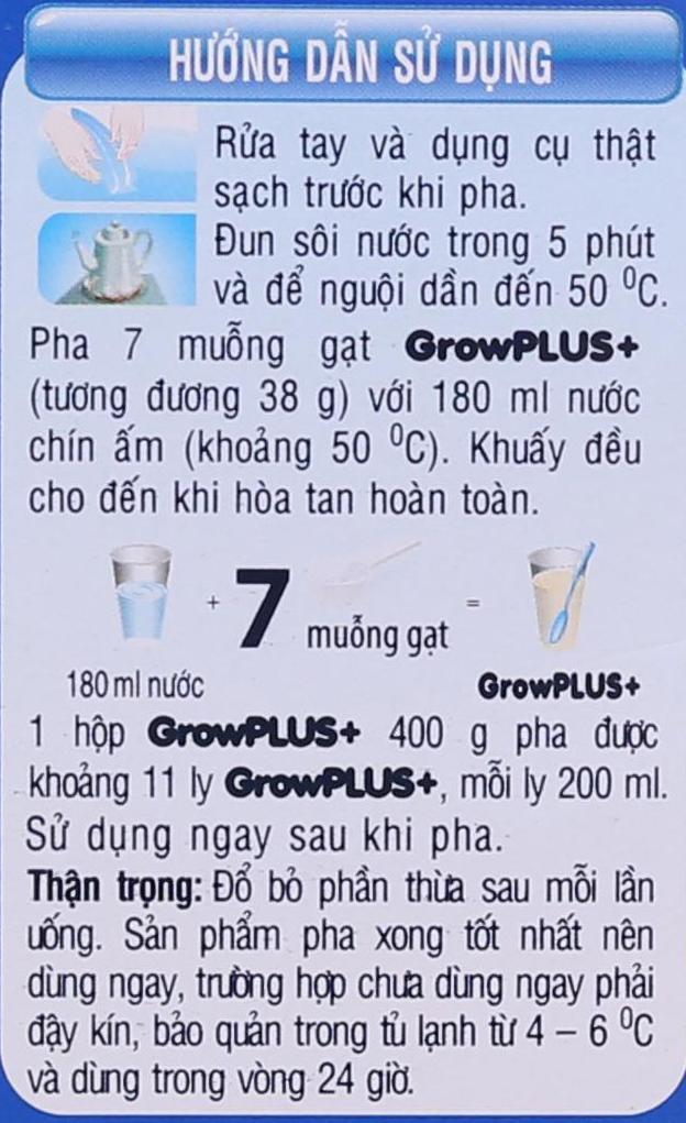 Cách pha sữa bột