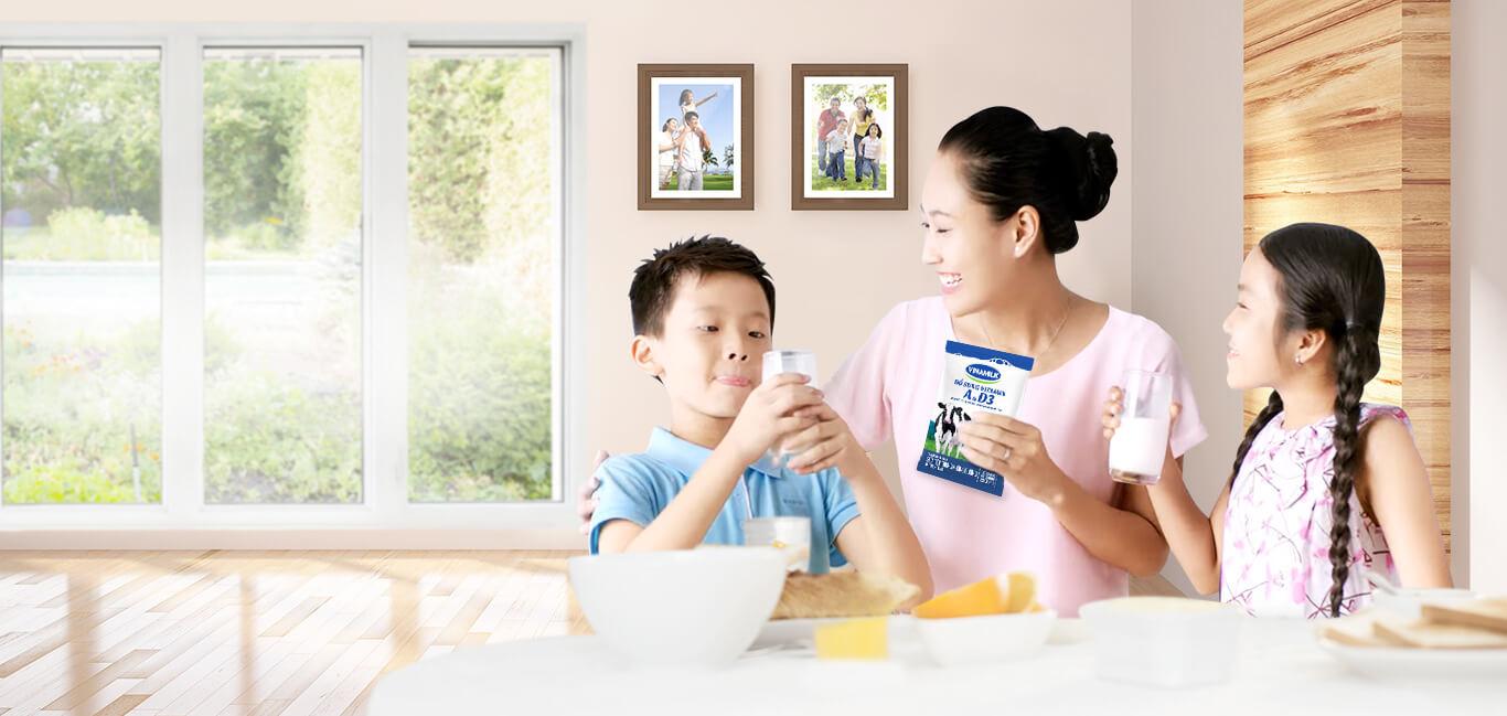 Sữa Vinamilk cung cấp nhiều dưỡng chất