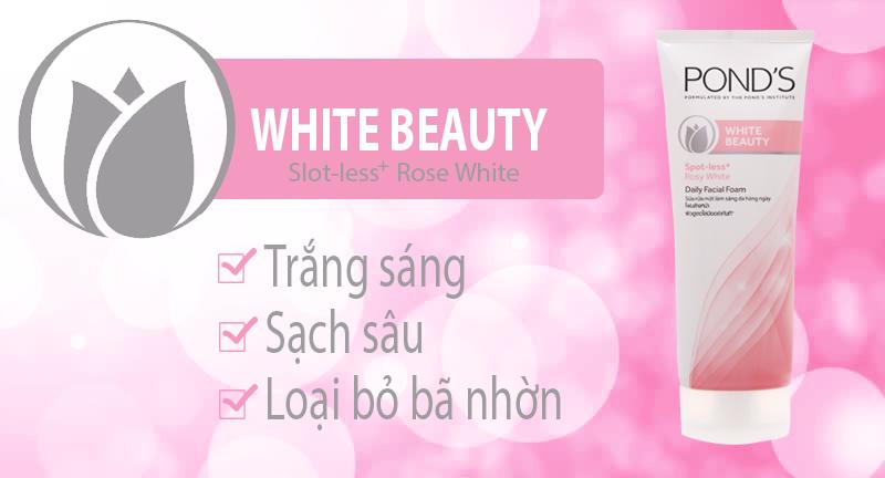 Sữa rửa mặt POND'S White Beauty trắng hồng rạng rỡ 100g