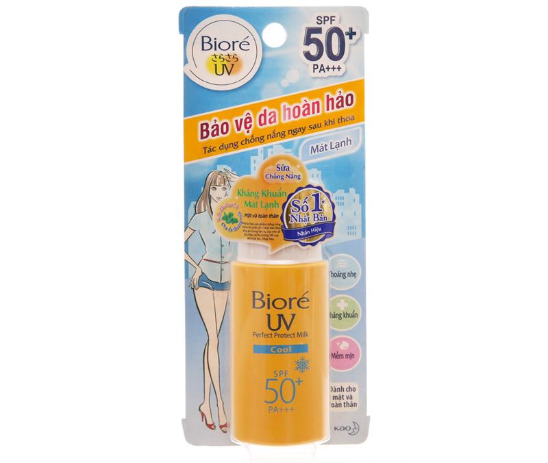 Sữa chống nắng Bioré kháng khuẩn mát lạnh SPF 50+/PA+++
