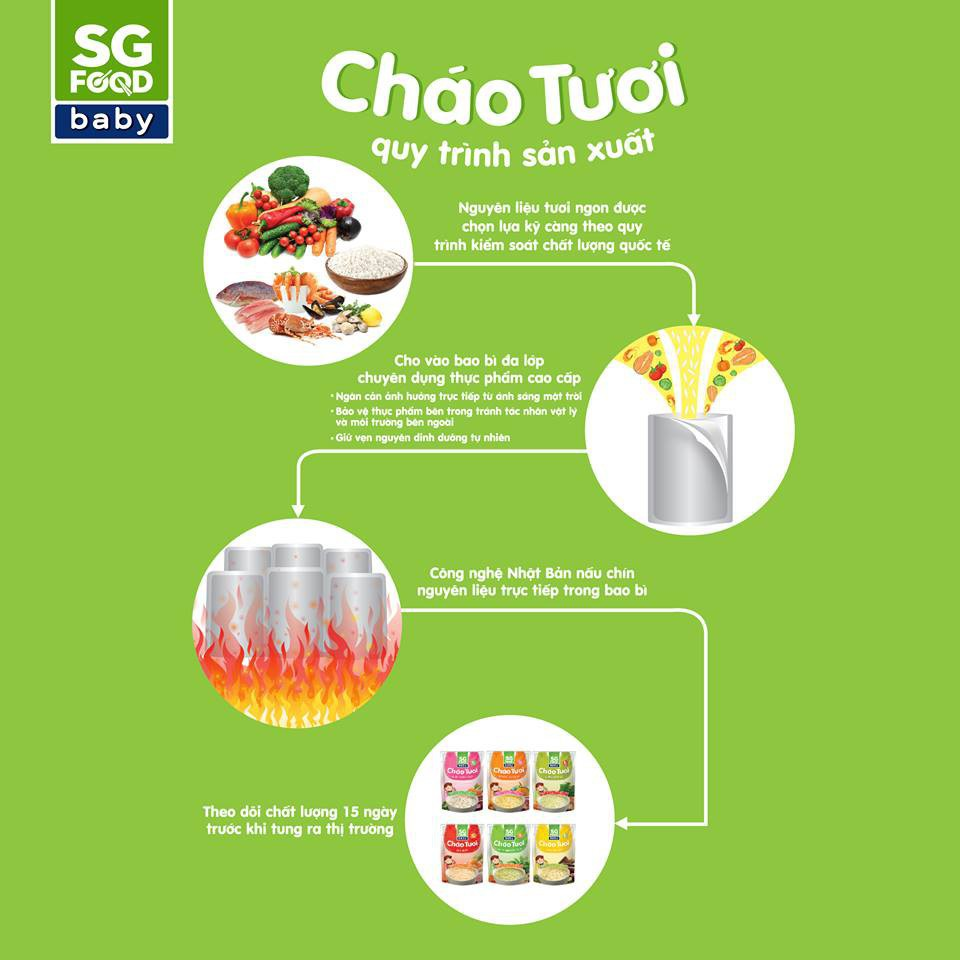 Cháo tươi SG Food Baby