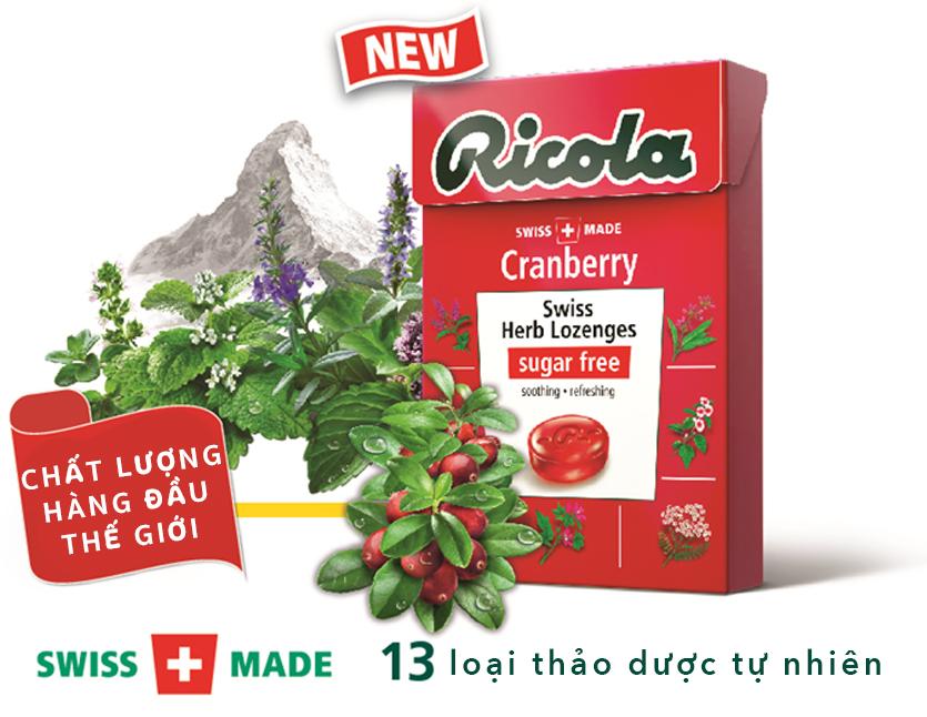 Kẹo ngậm Ricola Cranberry
