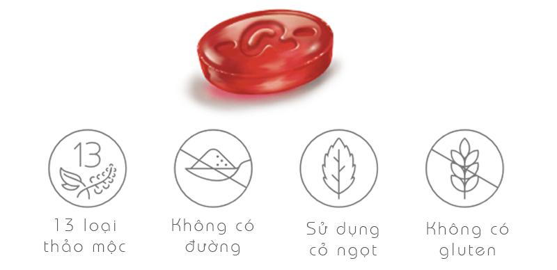 Kẹo ngậm thảo dược Ricola Cranberry