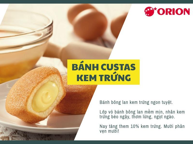 Bánh custas Orion 1