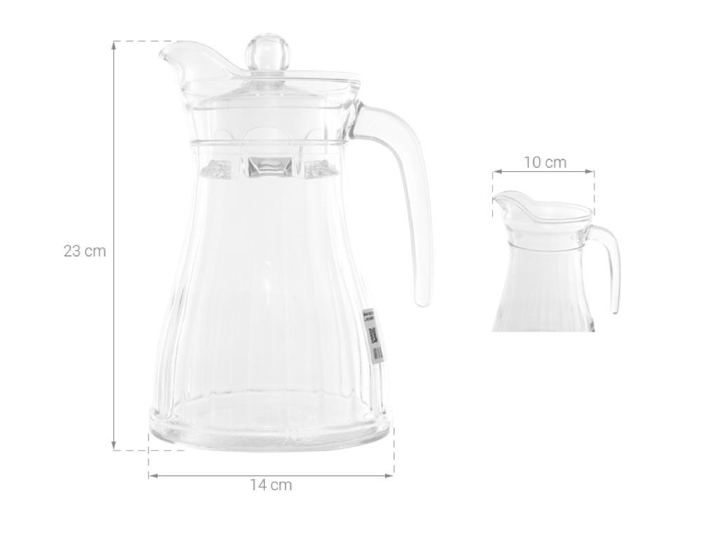 Kích thước bình đựng nước thủy tinh Luminarc 1.3 lít Bucolique
