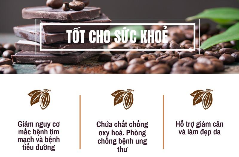 Lợi ích của socola với sức khoẻ