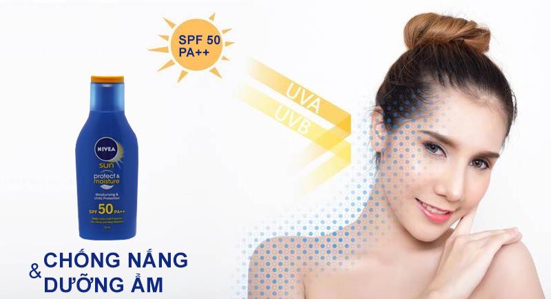 Sữa chống nắng và dưỡng ẩm da toàn thân Nivea SPF50 PA++ 50ml