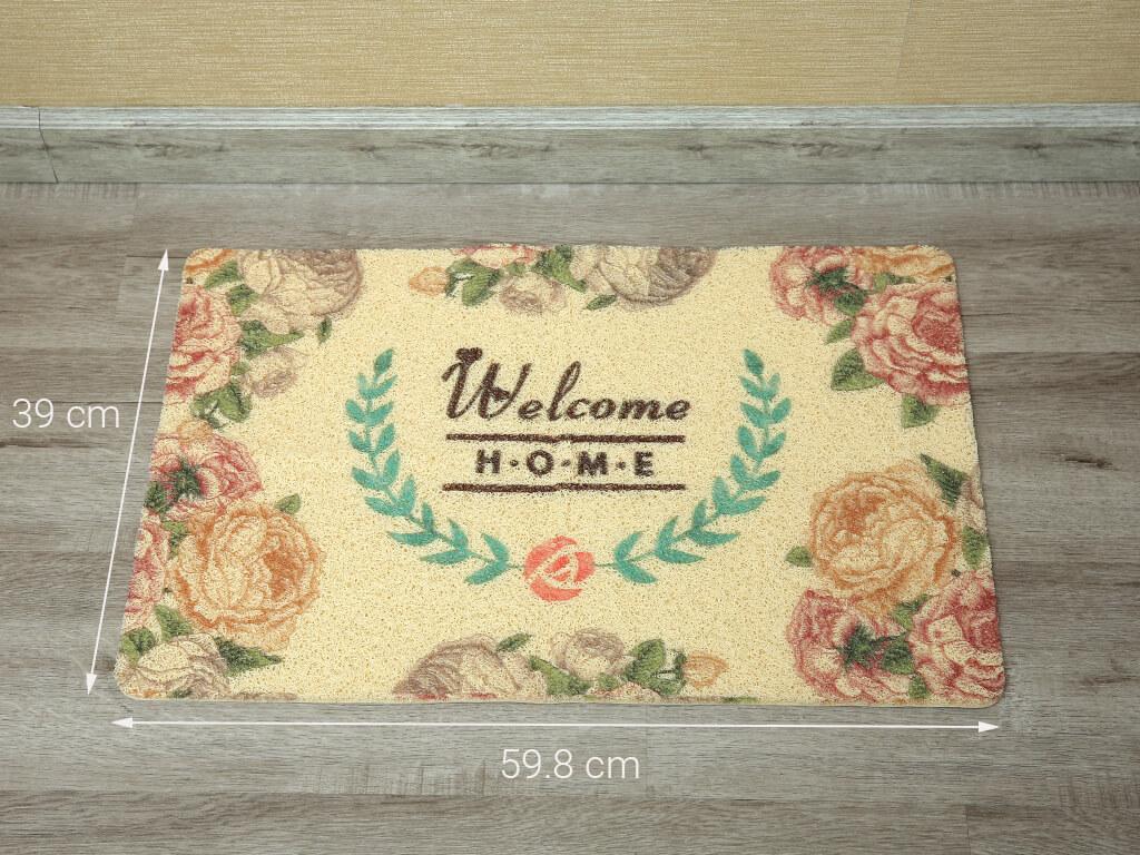 Kích thước thảm nhựa hoa văn Megahome 39x59.8cm