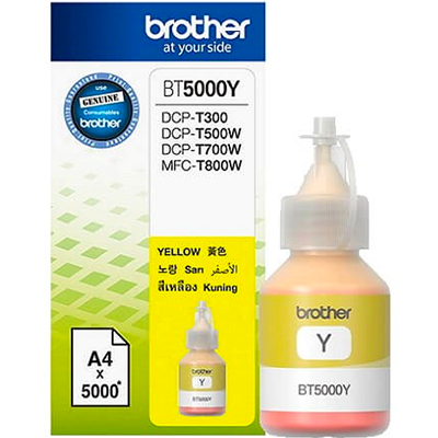 Mực in phun Brother BT5000Y Vàng/(DCP/MFC-Txxxx)