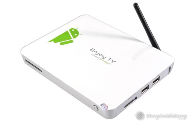 TV Box Android TV Nano WiFi Ethernet ATV1000, nhỏ gọn nhưng hiệu quả