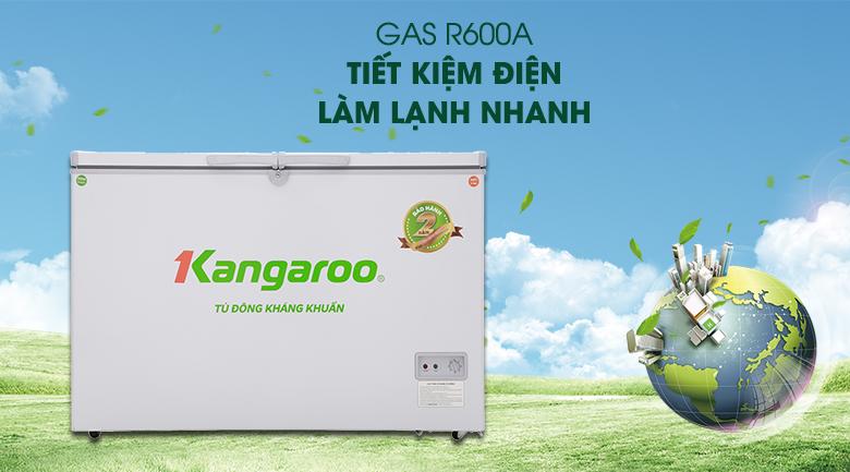 Gas R600a - Tủ đông Kangaroo KG388C2