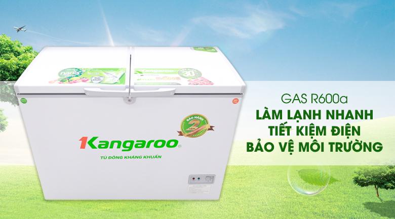 Gas R600a - Tủ đông Kangaroo KG298C2