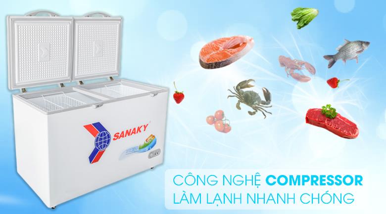 Công nghệ Compressor - Tủ đông Sanaky 410 lít VH 5699HY