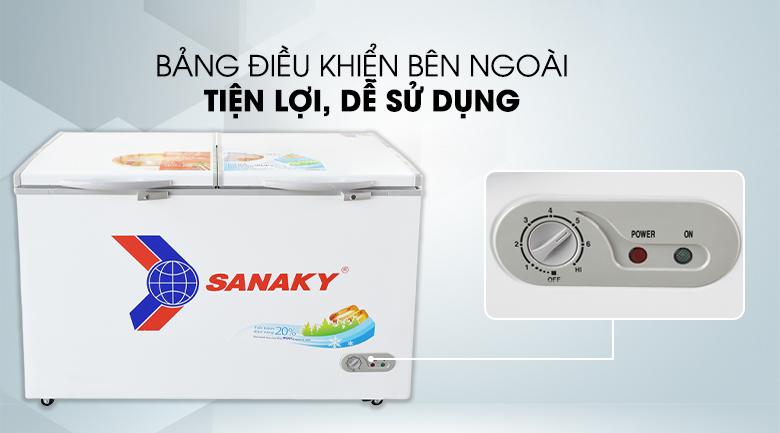 Bảng điều khiển bên ngoài - Tủ đông Sanaky VH 5699HY