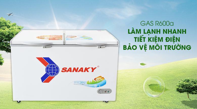 Gas R600a - Tủ đông Sanaky VH 5699HY