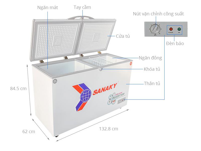 Tủ đông Sanaky Inverter 280 lít VH-4099W3