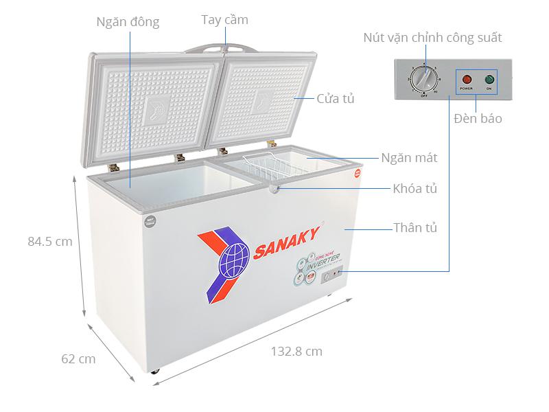 Thông số kỹ thuật Tủ đông Sanaky Inverter 280 lít VH-4099W3