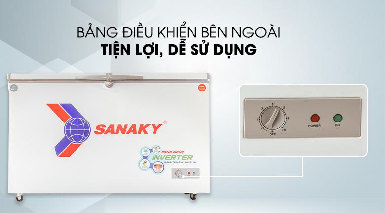 Nút điều khiển nằm ngoài tiện lợi - Tủ đông Sanaky Inverter 280 lít VH-4099W3