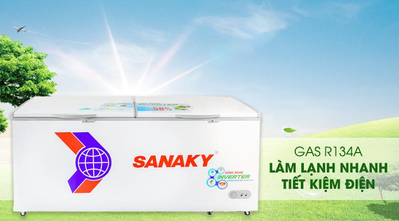 Làm lạnh nhanh, tiết kiệm điện với Gas R134a - Tủ đông Sanaky VH-8699HY3