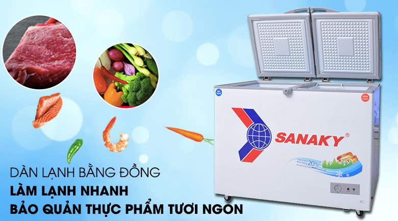Dàn lạnh đồng - Tủ đông Sanaky VH-2899W1