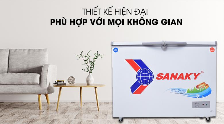 Tủ đông hiện đại, phù hợp với mọi không gian nhà - Tủ đông Sanaky VH-2899W1