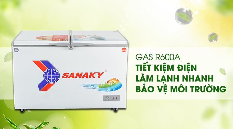 Gas R600a - Tủ đông Sanaky VH-3699W1