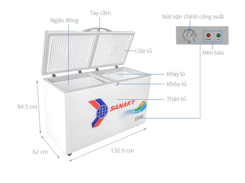 Thông số kỹ thuật Tủ đông Sanaky 305 lít VH-4099A1