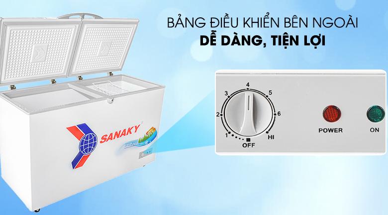 Nút điều chỉnh bên ngoài - Tủ đông Sanaky VH-4099A1