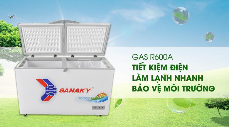 Gas R600a - Tủ đông Sanaky VH-4099A1
