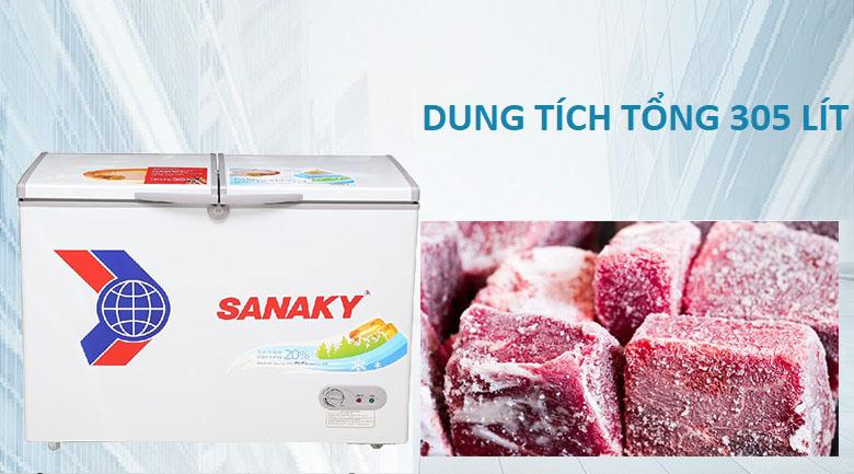 Dung tích 305 lít - Tủ đông Sanaky VH-4099A1