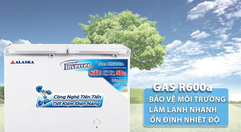 Gas R600a - Tủ đông Alaska Inverter 350 lít FCA 3600CI